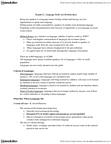 RLGA02H3 Lecture Notes - Endangered Language, Language Death, Multilingualism
