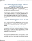 ECON 1B03 Chapter Notes - Chapter 1: 2009 Australian Federal Budget, Marginalism, Opportunity Cost