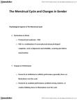 HSCI 1120 Lecture Notes - Menstruation, Menopause, Late-Onset Hypogonadism