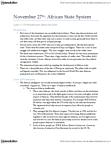 NEW150Y1 Lecture Notes - Kwame Nkrumah, Jomo Kenyatta, Gamal Abdel Nasser
