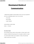 CMNS 1115 Lecture Notes - Stress Management, Interaction Model, Mass Media