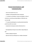 CMNS 1115 Lecture Notes - Green Marketing, Consumerism