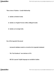 GEOG 1120 Lecture Notes - Quebec Sovereignty Movement, Charter Of The French Language