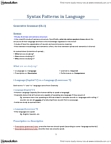 LIN232H1 Study Guide - Quiz Guide: Hackney Carriage, Syntactic Category, Phrase Structure Rules
