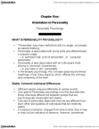 PSYCH356 Chapter Notes - Chapter 1: Personality Psychology, Agreeableness