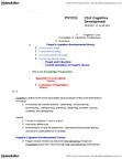 PSY210H1 Chapter Notes -Dual Representation, Object Permanence, Lev Vygotsky