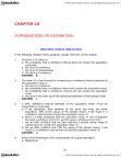 ADMS 2320 Study Guide - Final Guide: Bias Of An Estimator, Interval Estimation, Statistical Parameter