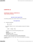 ADMS 2320 Study Guide - Final Guide: Null Hypothesis, Confidence Interval, Interval Estimation