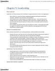 BUS 2090 Chapter Notes - Chapter 9: Job Satisfaction, Transformational Leadership, Human Capital