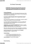Computer Science & Computer Engineering CSE1PE Lecture Notes - La Trobe University, Test Plan
