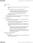 PSY322H1 Lecture Notes - Wield, Inclusive Fitness, Gender Role