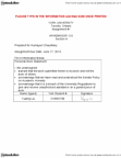 ADMS 3351 Lecture Notes - Food Processor, Pareto Chart, Process Capability