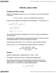 MATH 140 Lecture Notes - Lecture 11: Difference Quotient, Fax, Hyperbola