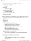 POLC38H3 Study Guide - Security Sector Governance And Reform, Resource Curse, Humanitarian Aid