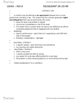 LS101 Lecture Notes - Consideration, Mental Disorder, Reasonable Person