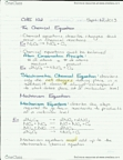 Lecture 3 Chemistry Notes - The Chemical Equation