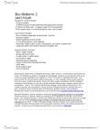 BIOL 1070 Study Guide - Midterm Guide: Phloem, Intermediate Disturbance Hypothesis, Ecosystem Engineer