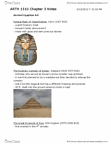 ARTH 1510 Chapter Notes - Chapter 3: Hatshepsut, Hypostyle, Soft Sculpture