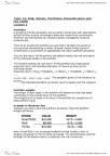 BSNS108 Lecture Notes - Expected Return, Standard Deviation, Weighted Arithmetic Mean