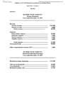 ACC 110 Study Guide - Midterm Guide: Cash Flow Statement, Measurement Uncertainty, Key Type Stamp