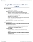 GMS 200 Chapter Notes - Chapter 13: Problem Solving, Satisficing, Representativeness Heuristic