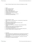 NO101 Lecture Notes - Lecture 7: Richard Riot, Summit Series, Continentalism