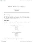 ECE124 Study Guide - Sequential Circuits, Sequential Logic, Clock Signal