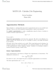 MATH119 Study Guide - Absolute Convergence, Polynomial, Iterated Integral