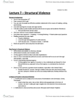 ANT100Y1 Lecture Notes - Lecture 7: Structural Violence, Double Burden, Attention