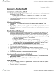 ANT100Y1 Lecture Notes - Lecture 9: Global Health, Neoliberalism, Situation Two