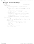 PSYC 235 Lecture Notes - Obstructive Sleep Apnea, Binge Eating Disorder, Acute Stress Reaction