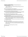 ANT102H5 Chapter Notes -Hutterite, Umbundu, Visible Minority