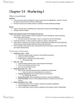 Chapter 14 Marketing I Textbook Notes