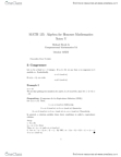 MATH135 Lecture Notes - Equivalence Class, Congruence (Geometry), Additive Inverse