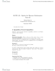 MATH135 Lecture Notes - Open Formula, Natural Number, Contraposition