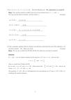 MAT102H5 Study Guide - Quiz Guide: Joule, Jyj, Quadratic Equation