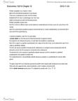 Economics 1021A Chapter 11