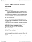 ADMS 2511 Study Guide - Midterm Guide: Decision Support System, Management Information System, Data Modeling