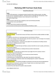 MCS 1000 Study Guide - Final Guide: Management Consulting, Switching Barriers, Life Insurance
