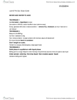 BIOL499A Study Guide - Quiz Guide: Pipette, Sintering, Diethyl Ether