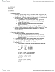 BIOL299 Lecture Notes - Lecture 13: Allele Frequency, Genetic Drift, Population Genetics
