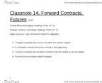 AFM 371 Lecture Notes - Forward Price, Forward Contract, Call Option