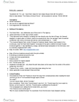 ENGL 101W Study Guide - Midterm Guide: Thorold, Cheyne Walk, Great Stink