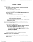 SOCI 1002 Lecture Notes - Robert Neelly Bellah, Protestant Work Ethic, Social Inequality