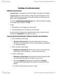 SOCI 1002 Study Guide - Social Movement, Collective Behavior, Radical Change