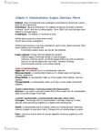 BPK 110 Chapter Notes - Chapter 4: Refined Grains, Endosperm, Monosaccharide