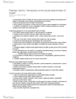 Sociology 3308F/G Chapter Notes -Rudolf Virchow, Social Exclusion, Health Canada
