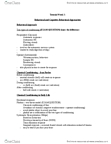 Psychology 2310A/B Lecture Notes - Autonomic Nervous System, Reinforcement, Classical Conditioning