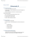 COMM 2002 Lecture Notes - Ethnography, Research Question