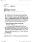 BUSI 2504 Study Guide - Preferred Stock, Net Present Value, Capital Structure